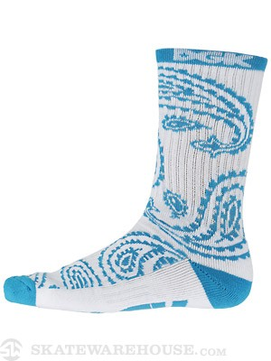 DGK Teardrop Crew Socks White/Blue