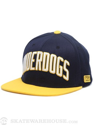 DGK Underdogs Snapback Hat Navy/Yellow Adj.