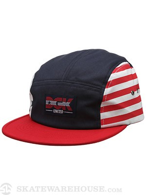 DGK United 5 Panel White/Red/Navy Adj.
