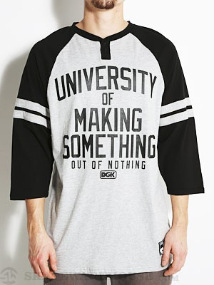 DGK University 3/4 Sleeve Raglan Black LG