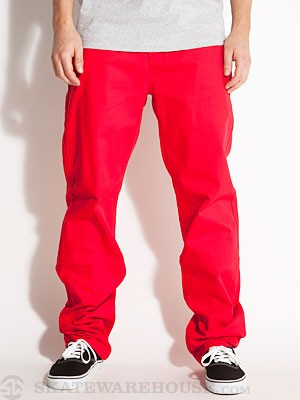 DGK Working Man 4 Chino Pants  Red 36