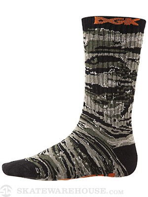 DGK Wildstyle Crew Socks Tiger Camo