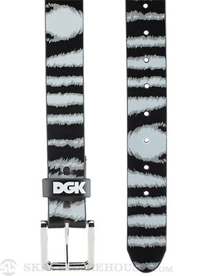 DGK Wildlife Zebra PU Belt Black Adj.
