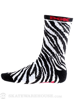 DGK Zebra Socks Black