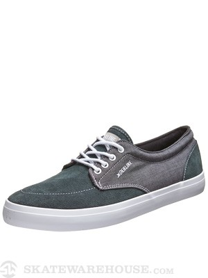 Dekline Mason Shoes  Pewter/White