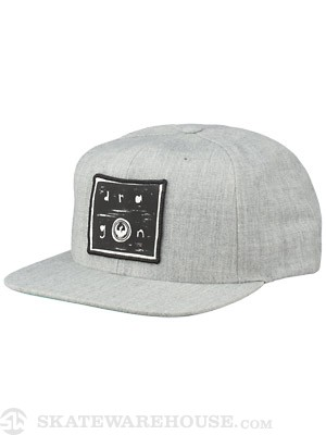 Dragon Block Snapback Hat Heather Grey Adj.