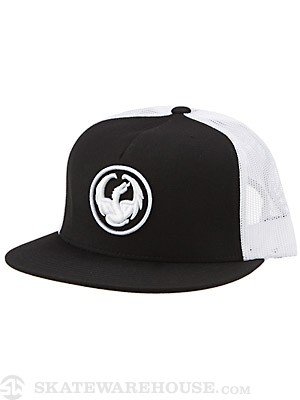 Dragon Icon Mesh Hat Black Adjust