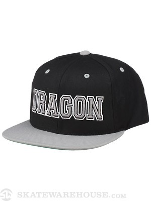 Dragon Team Spirit Snapback Hat Grey Adj.