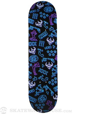 Darkstar Neon Blue Deck  8.1 x 31.8