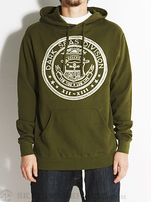 Dark Seas Sanctioned Hoodie Olive MD