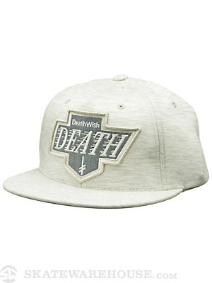 Deathwish Death Kings Snapback Hat Grey Adj.
