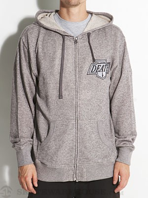 Deathwish Death King Hoodzip Heather Grey SM