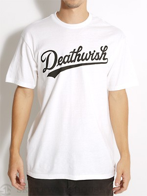 Deathwish Dragon Tee White/Black SM