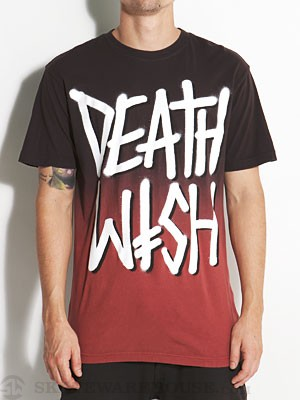 Deathwish Deathstack Faded Tee Black/Brown MD