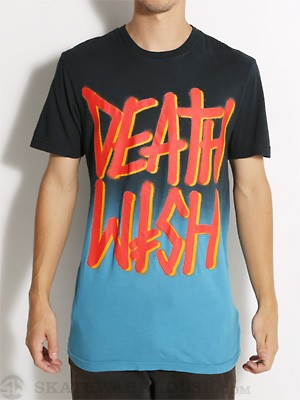 Deathwish Deathstack Faded Tee Black/Blue SM
