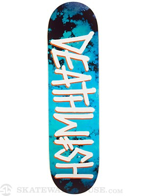 Deathwish Deathspray Marble Blue/White Deck  8.47x31.87