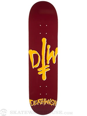 Deathwish D/W Street Spray Gamet/Yellow Deck  8.0x31.5