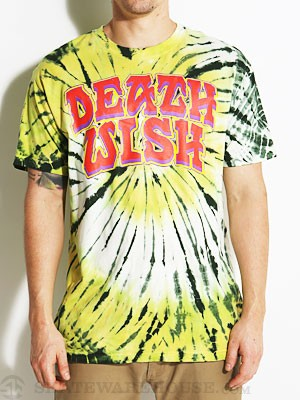 Deathwish Great Death Tie Dye Tee Lime/Yellow SM