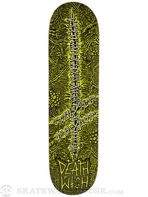 Deathwish Gang Logo Stitches Deck 8.125 x 31.5