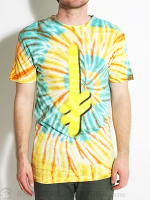Deathwish Gang Logo Tie Dye Tee Orange/Yellow XL