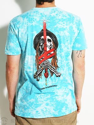 Sword And Mule Marble Tee Blue/White MD