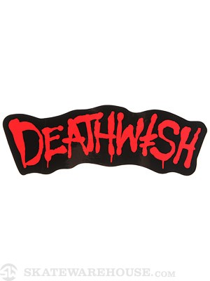 Deathwish Street Spray Sticker Black