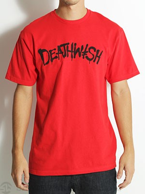 Deathwish Street Spray Tee Red/Black SM
