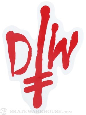 Deathwish Street Logo Sticker Red