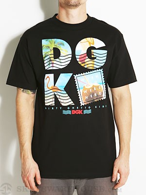 DGK Wish You Were Here Tee Black SM