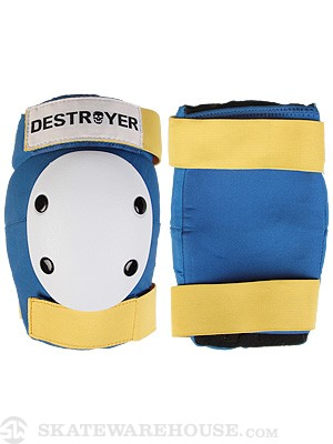 Destroyer Amateur Elbow Pads  Blue/White