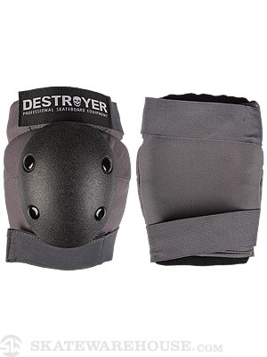 Destroyer Amateur Elbow Pads  Grey/Black