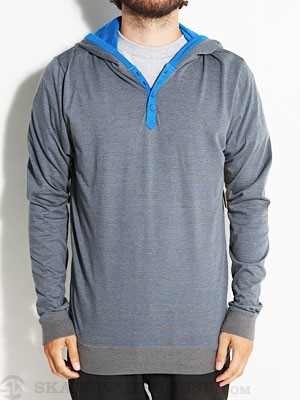 Element Bellflower Hooded Henley Charcoal SM
