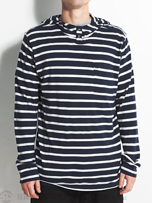 Element Last Call Hooded Henley Indigo MD