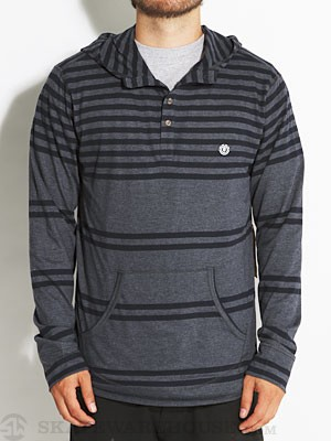 Element Scott Hooded Henley Shirt Indigo LG