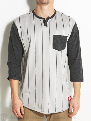 Element Slugger Henley Shirt Silver MD