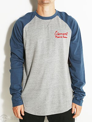 Element Unchained L/S Raglan Dark Denim SM