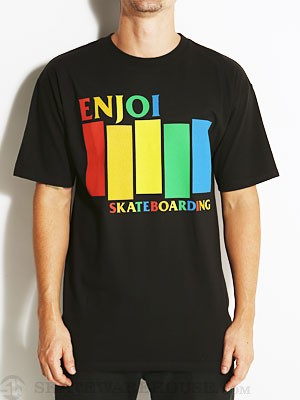 Enjoi Black Rainbow Tee Black SM