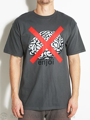 Enjoi No Brainer Tee Charcoal SM