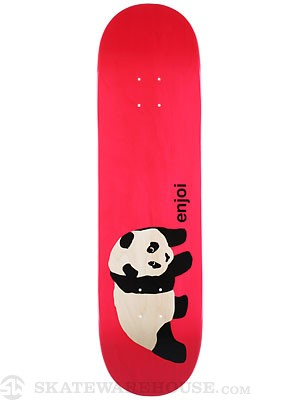 Enjoi Original Panda Clear Red Deck  8.5 x 32.5