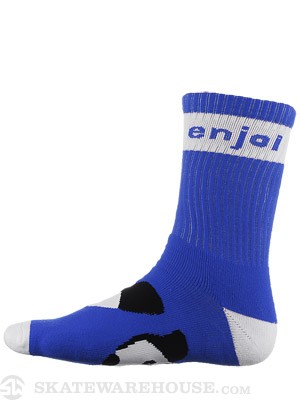 Enjoi Panda Feet Crew Sock Blue