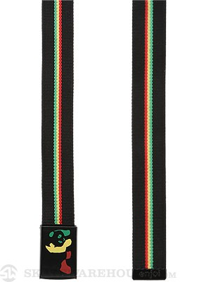 Enjoi Rasta Panda Web Belt Black Adjustable