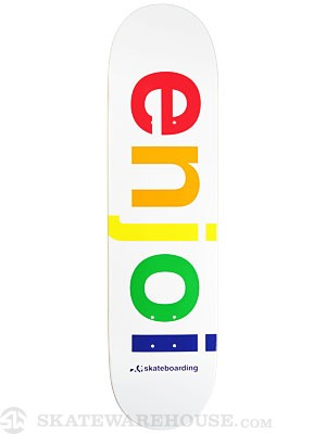 Enjoi Spectrum White Deck 8.1 x 31.7
