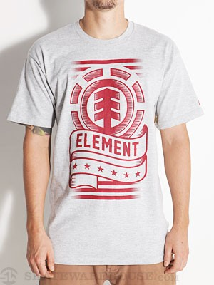 Element Patriot Tee Heather Grey SM