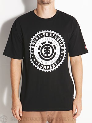 Element Badge Tee Black SM