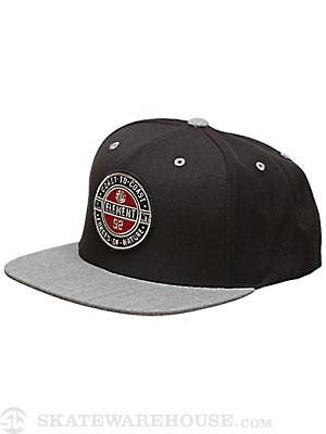 Element Best Coast Snap Back Hat Black Adjust