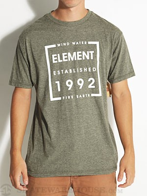 Element Boxed Tri-Blend Tee Green MD