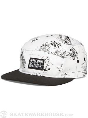 Element Compass 5 Panel Hat White Adjust
