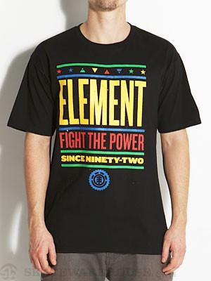 Element Fight Tee Black SM