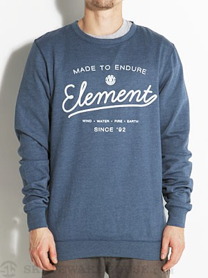 Element Hard Crew Sweatshirt Navy MD