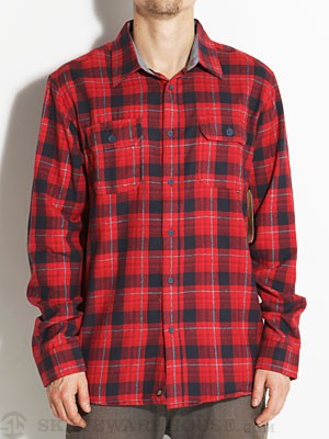 Element Hendrick Flannel Shirt Red MD